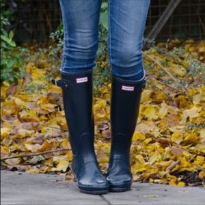Hunter Original Tall Black Rain Boot Wellies